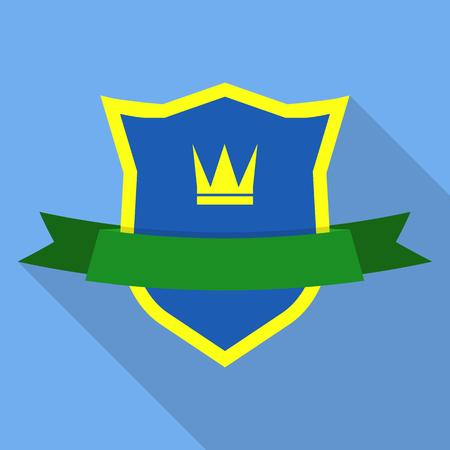 Prince shield icon. Flat illustration of prince shield vector icon for web Illustration