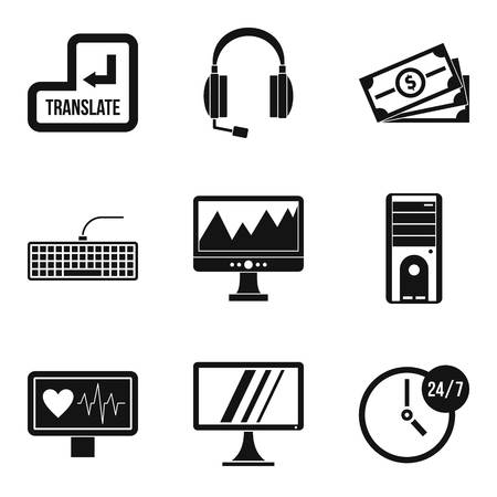 Wireless application icons set. Simple set of 9 wireless application vector icons for web isolated on white background