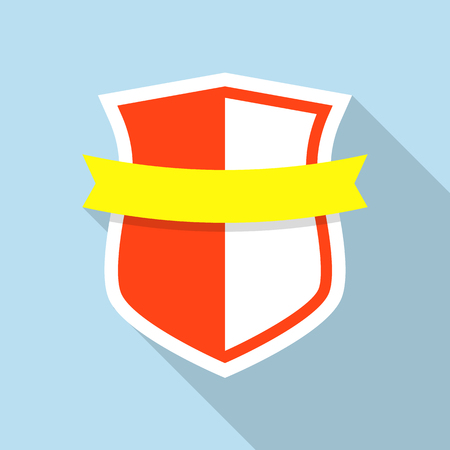 Ancient shield icon. Flat illustration of ancient shield vector icon for web