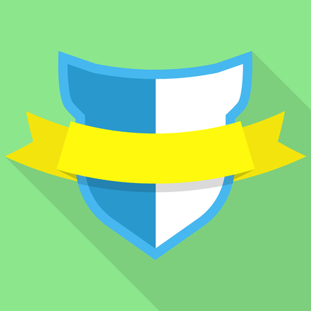 Guard shield icon. Flat illustration of guard shield vector icon for web