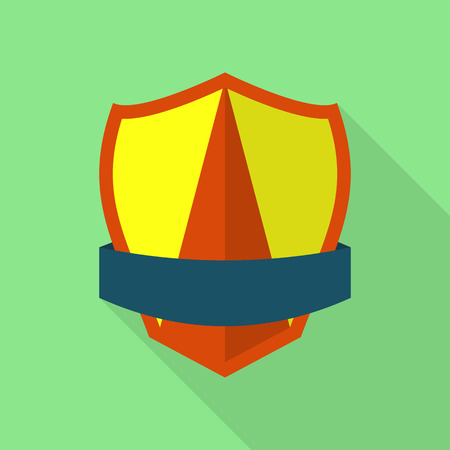 Dependable shield icon. Flat illustration of dependable shield vector icon for web Illusztráció
