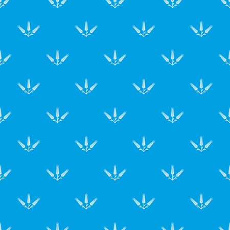 Abundant wheat pattern vector seamless blue repeat for any use 일러스트