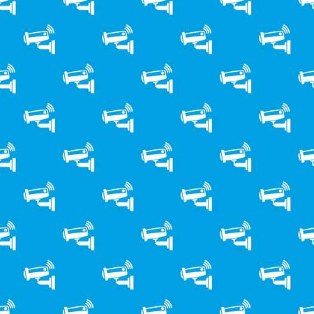 Security camera pattern vector seamless blue repeat for any use Illustration
