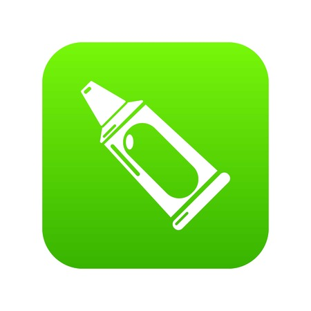 Toothpaste tube icon green vector isolated on white background Illustration
