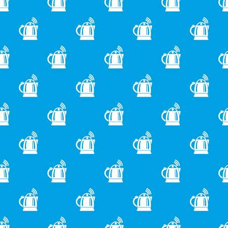 Electric kettle pattern vector seamless blue repeat for any use Illustration