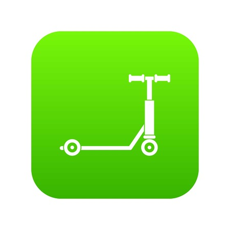 Scooter icon digital green for any design isolated on white vector illustration