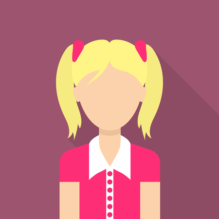 Girl icon. Flat illustration of girl vector icon for web Ilustração