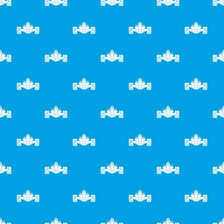 Racing car formula pattern vector seamless blue repeat for any use