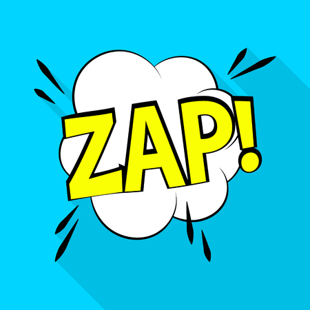 Zap icon. Pop art illustration of zap vector icon for web