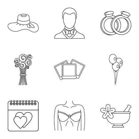 Life companion icons set. Outline set of 9 life companion vector icons for web isolated on white background