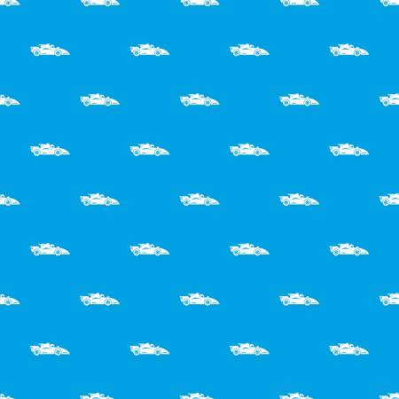 Racing car pattern vector seamless blue repeat for any use Illustration