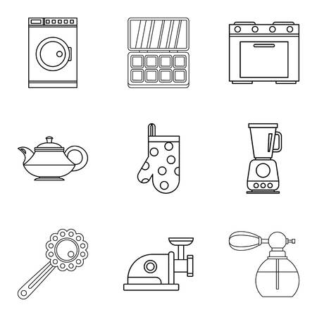 Nobleborn icons set. Outline set of 9 nobleborn vector icons for web isolated on white background
