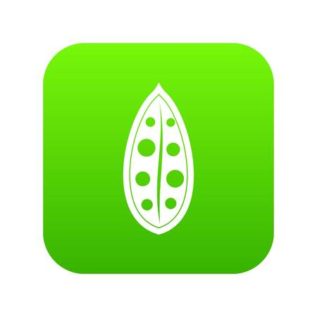 Cocoa pod icon digital green for any design isolated on white vector illustration
