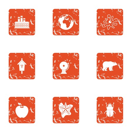 Manufacture icons set. Grunge set of 9 manufacture vector icons for web isolated on white background