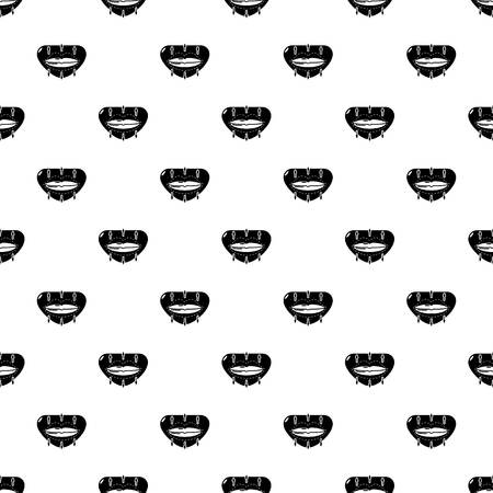 Lip augmentation pattern vector seamless repeating for any web design