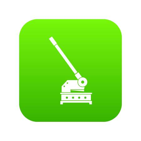 Cutting machine icon digital green for any design isolated on white vector illustration.