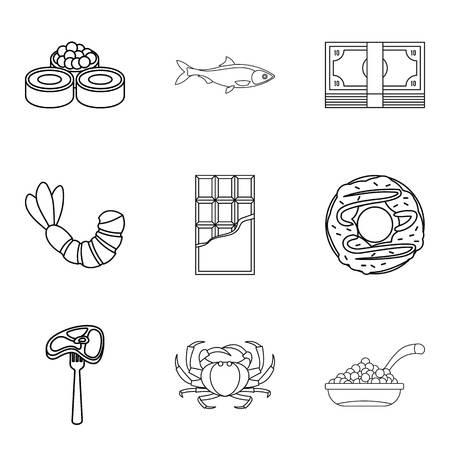 Tenderly icons set. Illustration
