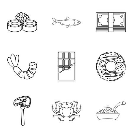 Tenderly icons set. Stock Illustratie