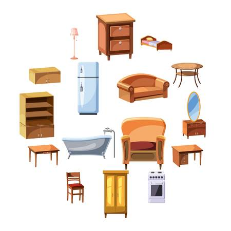 Furniture and household appliances icons set Archivio Fotografico - 100252501