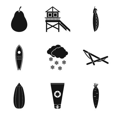 Sanity icons set. Simple set of 9 sanity vector icons for web isolated on white background. Foto de archivo - 100258128