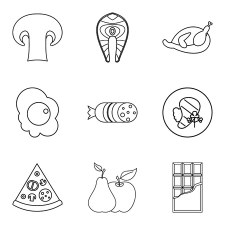 Lovingly icons set. Outline set of 9 lovingly vector icons for web isolated on white background Illustration