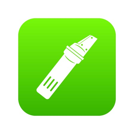Glass cutter icon digital green for any design isolated on white vector illustration