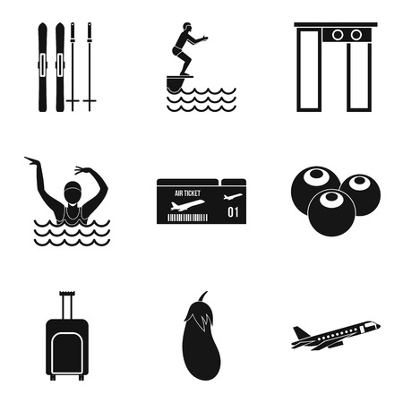 Vivacity icons set. Simple set of 9 vivacity vector icons for web isolated on white background Foto de archivo - 100257032