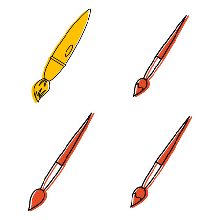 Pencil icon set. Color outline set of pencil vector icons for web design isolated on white background