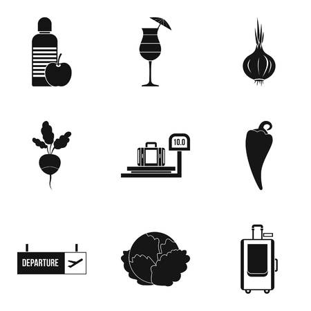 Prudence icons set. Simple set of 9 prudence vector icons for web isolated on white background