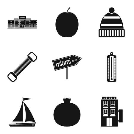 Judiciousness icons set. Simple set of nine judiciousness vector icons for web isolated on white background Foto de archivo - 100281267