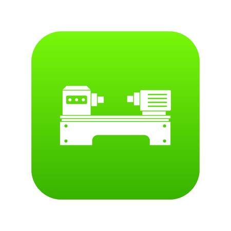 Lathe machine icon digital green for any design isolated on white vector illustration