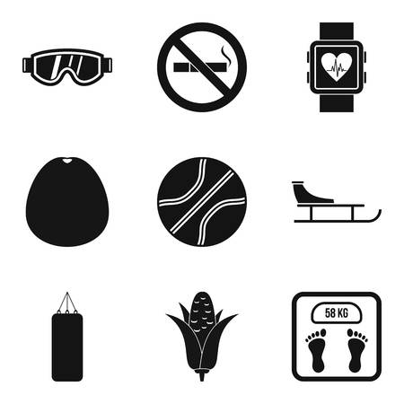 Better health icons set. Simple set of 9 better health vector icons for web isolated on white background Hình minh hoạ