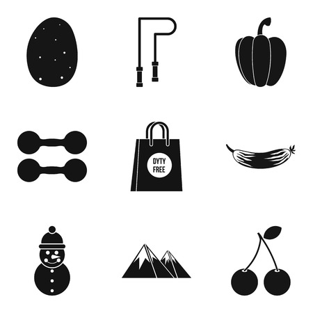 Feel good icons set. Simple set of 9 feel good vector icons for web isolated on white background Foto de archivo - 100252509