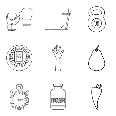 Restore health icons set. Outline set of 9 restore health vector icons for web isolated on white background Foto de archivo - 100271496