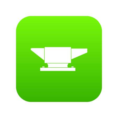 Anvil icon digital green for any design isolated on white vector illustration