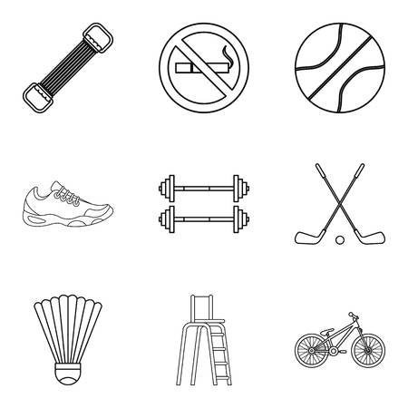 Glibness icons set. Outline set of 9 glibness vector icons for web isolated on white background Hình minh hoạ