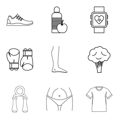 Smartness icons set. Outline set of 9 smartness vector icons for web isolated on white background Foto de archivo - 100257883