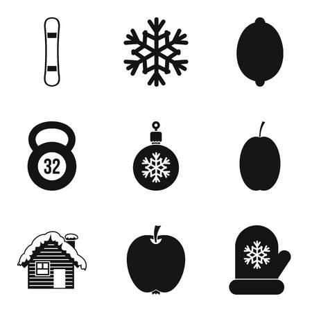 Simple set of 9 good mood icons