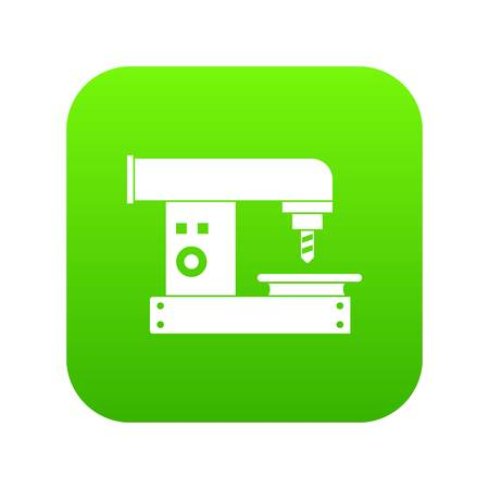 Drilling machine icon digital green for any design isolated on white vector illustration Illustration