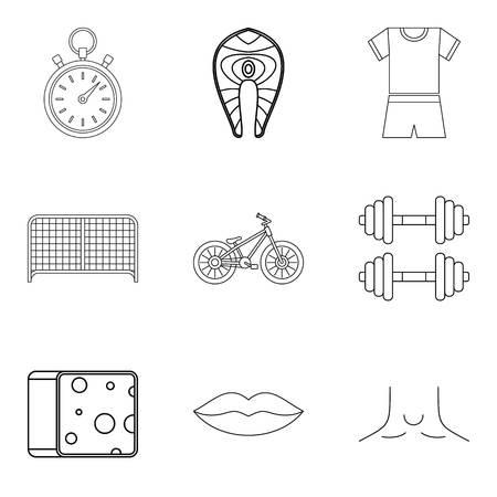 Undergo treatment icons set. Outline set of 9 undergo treatment vector icons for web isolated on white background Foto de archivo - 100255828