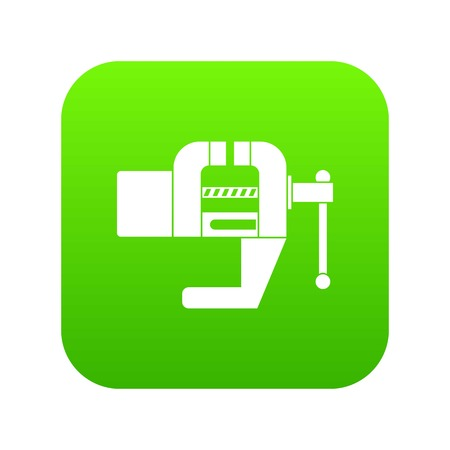 Vise tool icon digital green for any design isolated on white vector illustration Ilustração