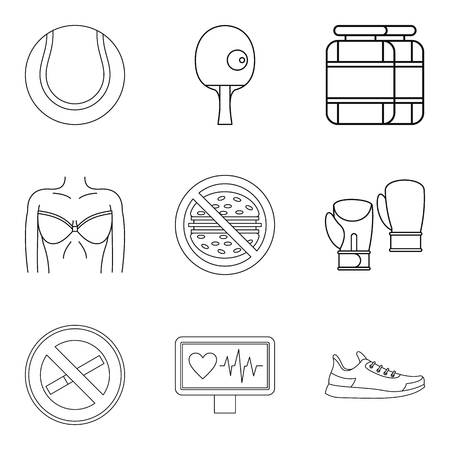 Love of self icons set. Outline set of love of self vector icons for web isolated on white background