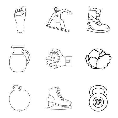 Recover icons set. Outline set of recover vector icons for web isolated on white background