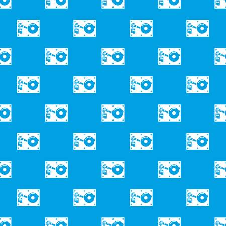 Broken technologypattern vector seamless blue repeat for any use