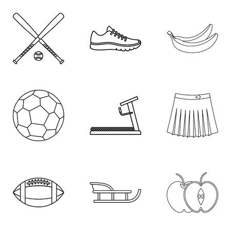 Recreate icons set. Outline set of recreate vector icons for web isolated on white background Foto de archivo - 100281514