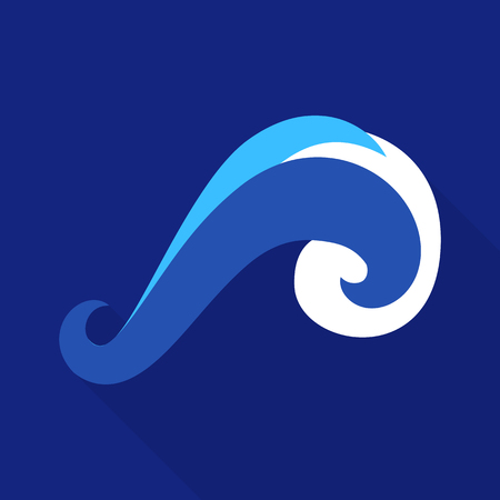 Twisted wave icon. Flat illustration of twisted ave vector icon for web