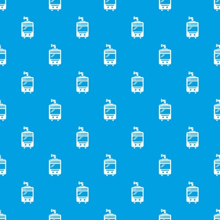 Oven-stove pattern vector seamless blue repeat for any use Illustration