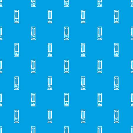 Oil heater pattern vector seamless blue repeat for any use Illustration