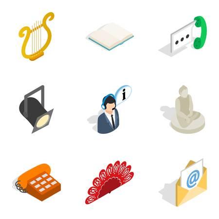 State of wellness icons set. Isometric set of 9 state of wellness vector icons for web isolated on white background Ilustração