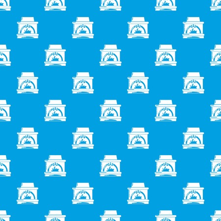 Blast furnace pattern vector seamless blue repeat for any use